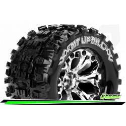 LR-T3204SCH Louise RC - MT-UPHILL - Set de pneus Monster Truck 1-10 - Monter - Sport - Jantes 2.8 Chrome