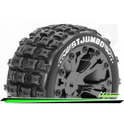 LR-T3210SBCM Louise RC - ST-JUMBO - Set de pneus Stadium Truck 1-10 - Monter - Sport - Jantes 2.8 Chrome-Noir