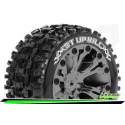 LR-T3211SBCM Louise RC - ST-UPHILL - Set de pneus Stadium Truck 1-10 - Monter - Sport - Jantes 2.8 Chrome-Noir