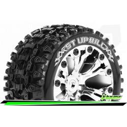 LR-T3211SCH Louise RC - ST-UPHILL - Set de pneus Stadium Truck 1-10 - Monter - Sport - Jantes 2.8 Chrome