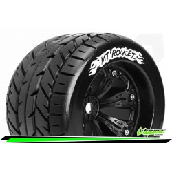 LR-T3217B Louise RC - MT-ROCKET - Set de pneus Monster Truck 1-8 - Monter - Sport - Jantes 3.8 Noir