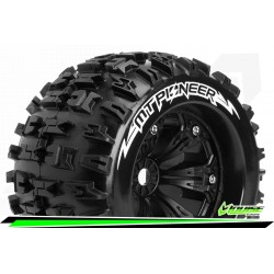 LR-T3218B Louise RC - MT-PIONEER - Set de pneus Monster Truck 1-8 - Monter - Sport - Jantes 3.8 Noir