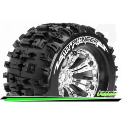 LR-T3218C Louise RC - MT-PIONEER - Set de pneus Monster Truck 1-8 - Monter - Sport - Jantes 3.8 Chrome