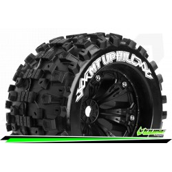 LR-T3219B Louise RC - MT-UPHILL - Set de pneus Monster Truck 1-8 - Monter - Sport - Jantes 3.8 Noir