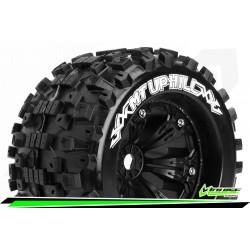 LR-T3219B Louise RC - MT-UPHILL - Set de pneus Monster Truck 1-8 - Monter - Sport - Jantes 3.8 Noir