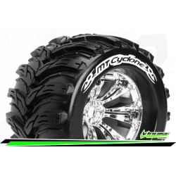 LR-T3220C Louise RC - MT-CYCLONE - Set de pneus Monster Truck 1-8 - Monter - Sport - Jantes 3.8 Chrome
