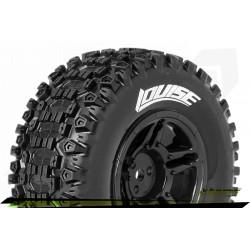 LR-T3223SBAA Louise RC - SC-UPHILL - Set de pneus Short Course 1-10 - Monter - Soft - Jantes Noir