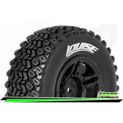 LR-T3224SBM Louise RC - SC-HUMMER - Set de pneus Short Course 1-10 - Monter - Soft - Jantes Noir