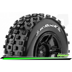 LR-T3229SBAA Louise RC - SC-ROCK - Set de pneus Short Course 1-10 - Monter - Soft - Jantes Noir