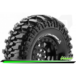 LR-T3231VB Louise RC - CR-CHAMP - Set de pneus Crawler 1-10 - Monter - Super Soft - Jantes 1.9 Noir