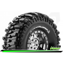 LR-T3231VBC Louise RC - CR-CHAMP - Set de pneus Crawler 1-10 - Monter - Super Soft - Jantes 1.9 Chrome-Noir