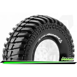 LR-T3232VI Louise RC - CR-ARDENT - Jeu de pneus Crawler 1-10 - Super Soft - pour Jantes 1.9