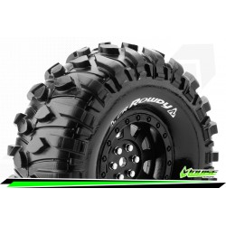 LR-T3233VB Louise RC - CR-ROWDY - Set de pneus Crawler 1-10 - Monter - Super Soft - Jantes 1.9 Noir
