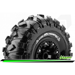 LR-T3238VB Louise RC - CR-ROWDY - Set de pneus Crawler 1-10 - Monter - Super Soft - Jantes 2.2 Noir