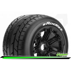LR-T3242B Louise RC - B-ROCKET - Set de pneus Buggy 1-5 - Monter - Sport - Jantes Bead-Lock Noir