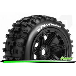 LR-T3243B Louise RC - B-PIONEER - Set de pneus Buggy 1-5 - Monter - Sport - Jantes Bead-Lock Noir