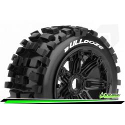 LR-T3244B Louise RC - B-ULLDOZE - Set de pneus Buggy 1-5 - Monter - Sport - Jantes Bead-Lock Noir