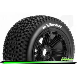 LR-T3245B Louise RC - B-VIPER - Set de pneus Buggy 1-5 - Monter - Sport - Jantes Bead-Lock Noir