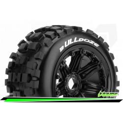 LR-T3268B Louise RC - B-ULLDOZE - Set de pneus Buggy 1-5 - Monter - Sport - Jantes Bead-Lock Noir