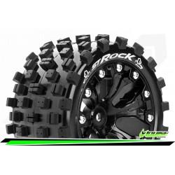 LR-T3273SBH Louise RC - ST-ROCK - Set de pneus Stadium Truck 1-10 - Monter - Sport - Jantes 2.8 Noir