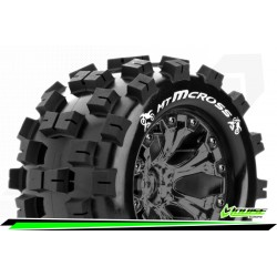 LR-T3274SBCM Louise RC - MT-MCROSS - Set de pneus Monster Truck 1-10 - Monter - Sport - Jantes 2.8 Chrome-Noir