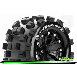 LR-T3274SBM Louise RC - MT-MCROSS - Set de pneus Monster Truck 1-10 - Monter - Sport - Jantes 2.8 Noir