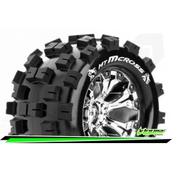 LR-T3274SC Louise RC - MT-MCROSS - Set de pneus Monster Truck 1-10 - Monter - Sport - Jantes 2.8 Chrome