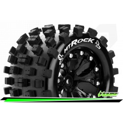 LR-T3275SB Louise RC - MT-ROCK - Set de pneus Monster Truck 1-10 - Monter - Sport - Jantes 2.8 Noir