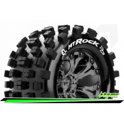 LR-T3275SBCM Louise RC - MT-ROCK - Set de pneus Monster Truck 1-10 - Monter - Sport - Jantes 2.8 Chrome-Noir