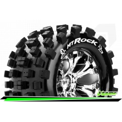 LR-T3275SCH Louise RC - MT-ROCK - Set de pneus Monster Truck 1-10 - Monter - Sport - Jantes 2.8 Chrome