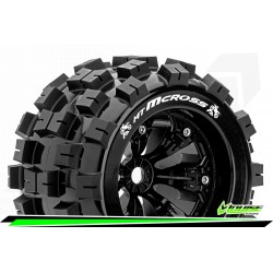 LR-T3276B Louise RC - MT-MCROSS - Set de pneus Monster Truck 1-8 - Monter - Sport - Jantes 3.8 Noir