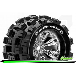 LR-T3276CH Louise RC - MT-MCROSS - Set de pneus Monster Truck 1-8 - Monter - Sport - Jantes 3.8 Chrome