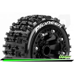 LR-T3278SB Louise RC - ST-PIONEER - Set de pneus Truck 1-16 - Monter - Sport - Jantes 2.2 Noir