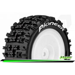 LR-T3278SWKR Louise RC - E-PIONEER - Set de pneus Buggy 1-10 - Monter - Soft - Jantes Pleine Blanc