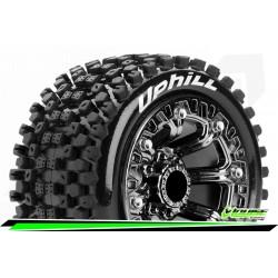 LR-T3279SBC Louise RC - ST-UPHILL - Set de pneus Truck 1-16 - Monter - Sport - Jantes 2.2 Chrome-Noir