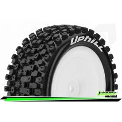 LR-T3279SWKR Louise RC - E-UPHILL - Set de pneus Buggy 1-10 - Monter - Soft - Jantes Pleine Blanc
