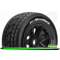 LR-T3291B Louise RC - SC-ROCKET - Set de pneus Short Course 1-5 - Monter - Sport - Jantes Bead-Lock Noir