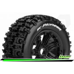 LR-T3292B Louise RC - SC-PIONEER - Set de pneus Short Course 1-5 - Monter - Sport - Jantes Bead-Lock Noir