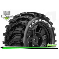 LR-T3298B Louise RC - MFT - X-CYCLONE - Set de pneus X-Maxx - Monter - Sport - Jantes Noir