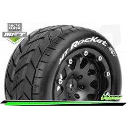 LR-T3307SBM Louise RC - MFT - MT-ROCKET - Set de pneus Monster Truck 1-10 - Monter - Sport - Jantes 2.8 Bead-Lock Noir