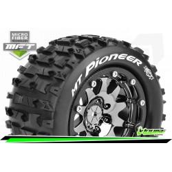 LR-T3308SBC Louise RC - MFT - MT-PIONEER - Set de pneus Monster Truck 1-10 - Monter - Sport - Jantes 2.8 Bead-Lock Chrome-Noir
