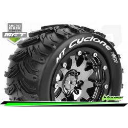 LR-T3310SBC Louise RC - MFT - MT-CYCLONE - Set de pneus Monster Truck 1-10 - Monter - Sport - Jantes 2.8 Bead-Lock Chrome-Noir