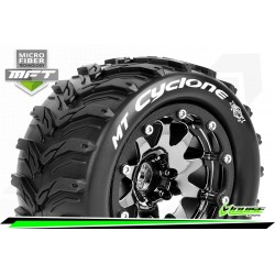 LR-T3310SBCH Louise RC - MFT - MT-CYCLONE - Set de pneus Monster Truck 1-10 - Monter - Sport - Jantes 2.8 Bead-Lock Chrome-Noir