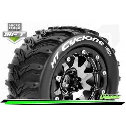 LR-T3310SBCH Louise RC - MFT - MT-CYCLONE - Set de pneus Monster Truck 1-10 - Monter - Sport - Jantes 2.8 Bead-Lock Chrome-Noir