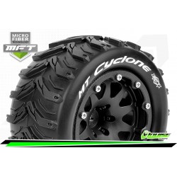 LR-T3310SBH Louise RC - MFT - MT-CYCLONE - Set de pneus Monster Truck 1-10 - Monter - Sport - Jantes 2.8 Bead-Lock Noir