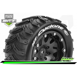 LR-T3310SBM Louise RC - MFT - MT-CYCLONE - Set de pneus Monster Truck 1-10 - Monter - Sport - Jantes 2.8 Bead-Lock Noir