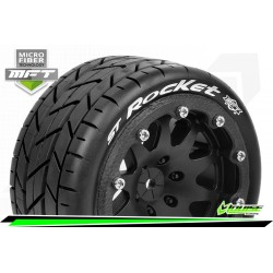 LR-T3311SB Louise RC - MFT - ST-ROCKET - Set de pneus Monster Truck 1-10 - Monter - Sport - Jantes 2.8 Bead-Lock Noir