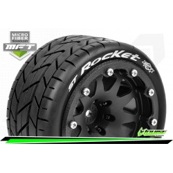 LR-T3311SBH Louise RC - MFT - ST-ROCKET - Set de pneus Monster Truck 1-10 - Monter - Sport - Jantes 2.8 Bead-Lock Noir