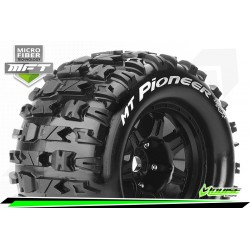 LR-T3321BH Louise RC - MFT - MT-PIONEER - Set de pneus Monster Truck 1-8 - Monter - Sport - Jantes type Bead 3.8 Noir
