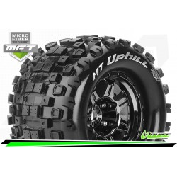 LR-T3322BC Louise RC - MFT - MT-UPHILL - Set de pneus Monster Truck 1-8 - Monter - Sport - Jantes type Bead 3.8 Chrome-Noir